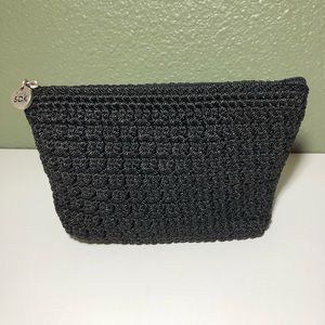 the sak makeup cosmetic bag, clutch purse